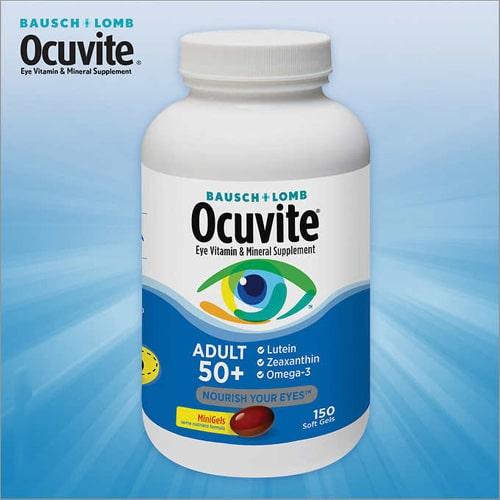 Thuốc bổ mắt Bausch & Lomb Ocuvite Adult 50+