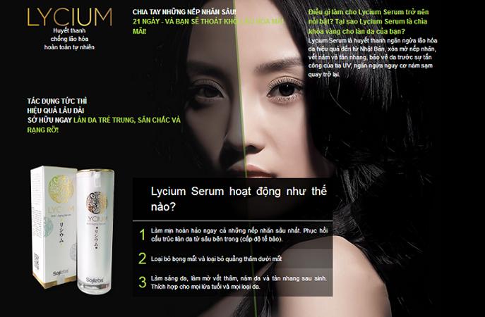Đối tượng sử dụng Lycium Serum