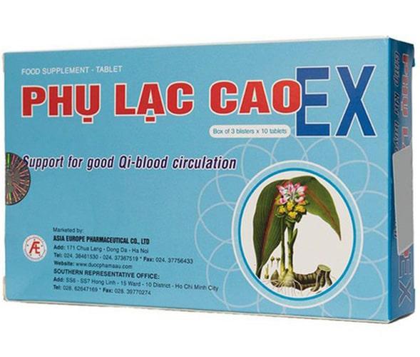 Thuốc giảm đau bụng kinh Phụ Lạc Cao EX