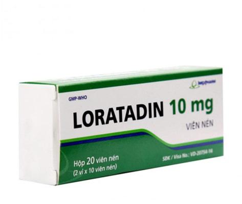 Thuốc chống dị ứng Loratadin