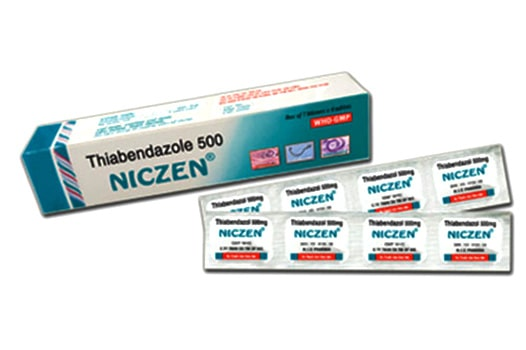 Thuốc trị ký sinh trùng THIABENDAZOLE