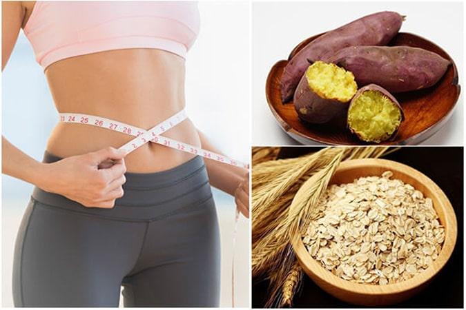 Cách giảm cân bằng yến mạch và khoai lang
