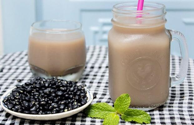 Nước đậu đen và yến mạch giảm cân