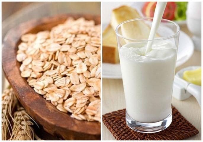 Sữa không đường và yến mạch giảm cân