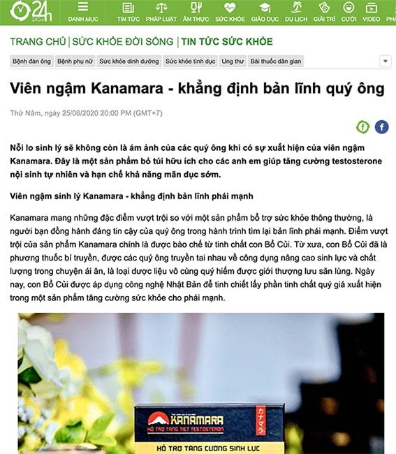 Đánh giá Kanamara báo 24h.com.vn