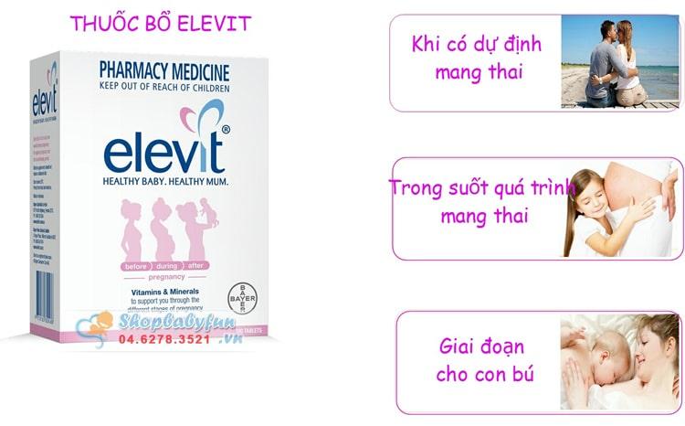 Cách dùng Elevit mỗi ngày