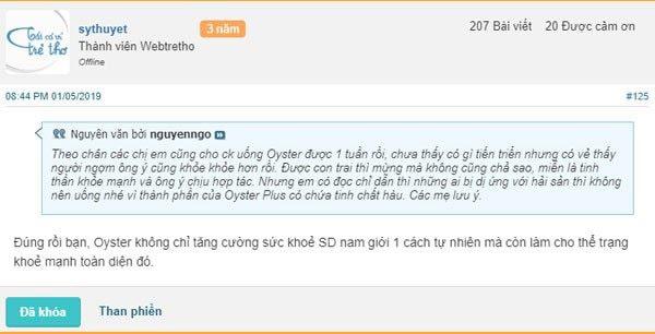 Đánh giá Oyster Plus trên Webtretho