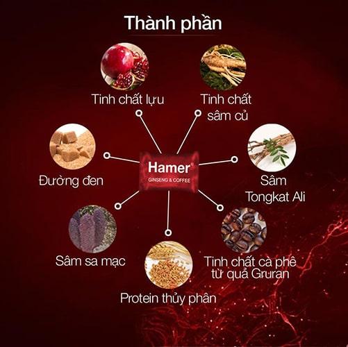 Thành phần kẹo sâm Hamer