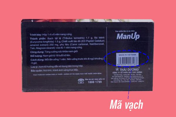 Phân biệt sản phẩm Man Up thật – giả