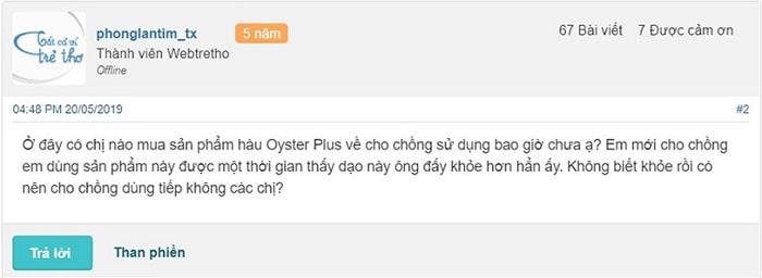 Review Oyster Plus trên Webtretho
