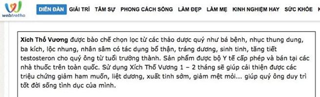 Review Xích Thố Vương Webtretho