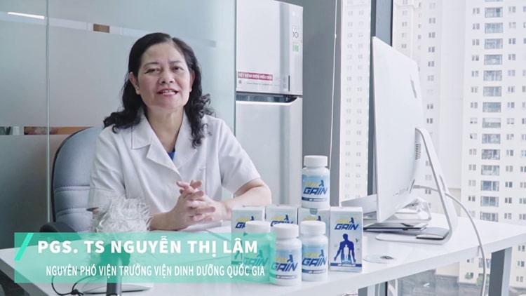 PGS.TSNguyễn Thị Lâm đánh giá viên tăng cân Maxx Gain