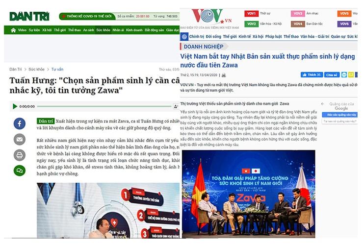 Báo chí đưa tin về Zawa