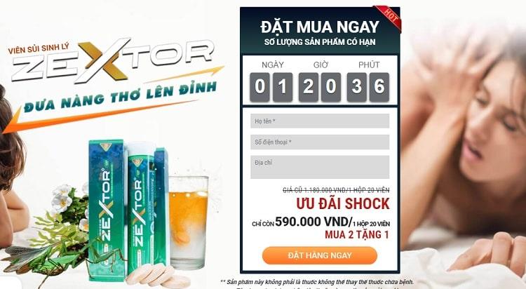 Viên sủi Zextor giá bao nhiêu tiền
