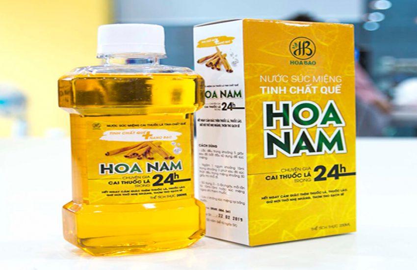 Nước súc miệng tinh chất quế Hoa Nam