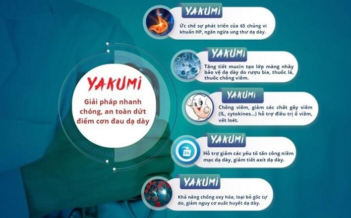 Công dụng của viên sủi Yakumi dạ dày Nhật Bản