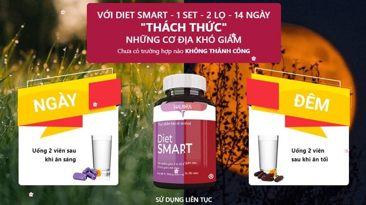 Cách dùng viên uống Diet Smart
