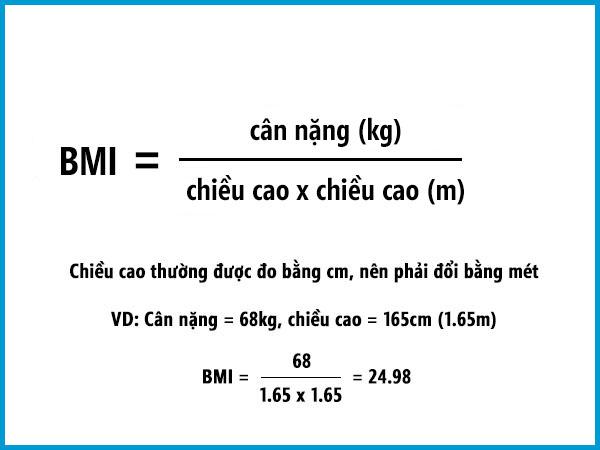 Cách tính chỉ số BMI