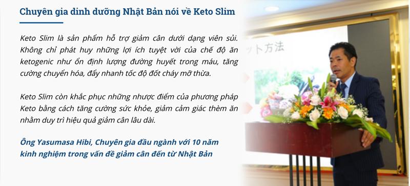 Chuyên gia dinh dưỡng Nhật Bản nói về Keto Slim