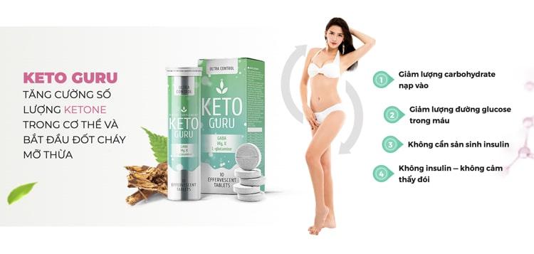 Công dụng của giảm cân Keto Guru