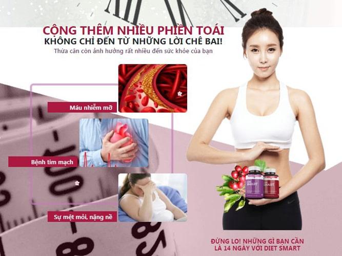 Lưu ý về viên uống giảm cân Diet Smart