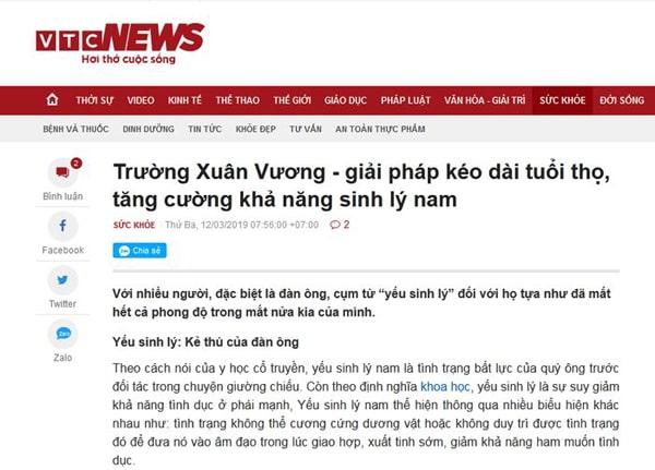 Trường Xuân Vương báo VTCnews