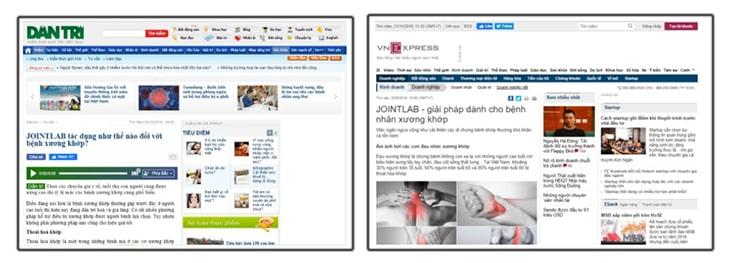 Báo chí đưa tin Jointlab