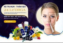 Bộ sản phẩm trị mụn 24 Orga