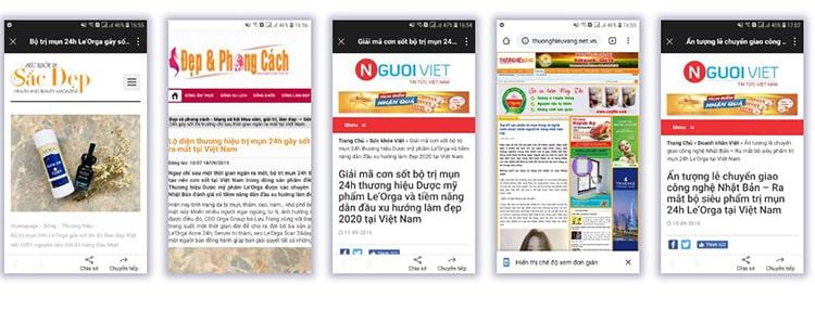 Báo chí đưa tin 24 Orga
