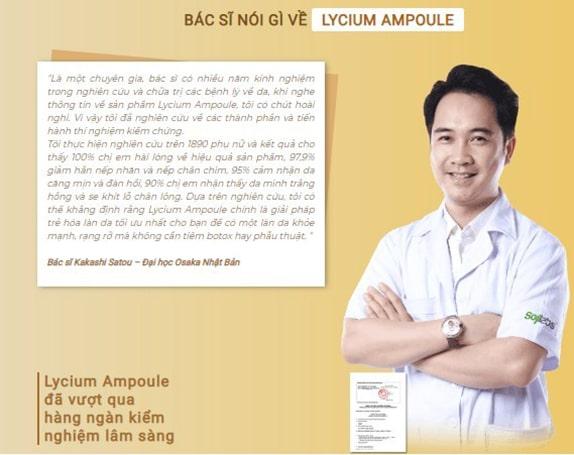 Chuyên gia đánh giá Lycium Ampoule