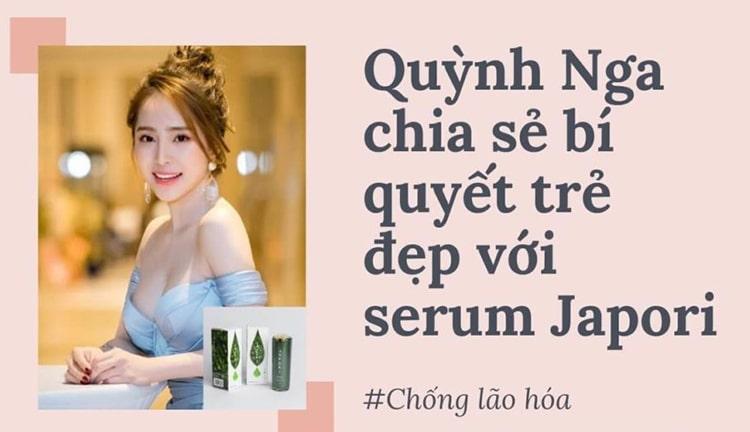 Diễn viên Quỳnh Nga đánh giá Japori serum