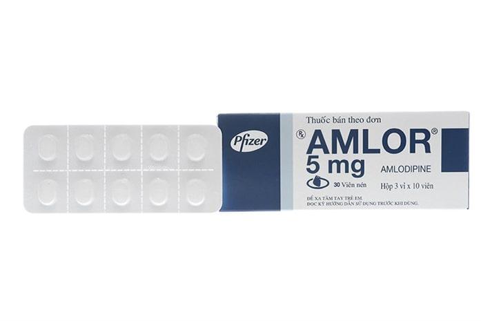 Thuốc hạ huyết áp Amlodipine 5mg