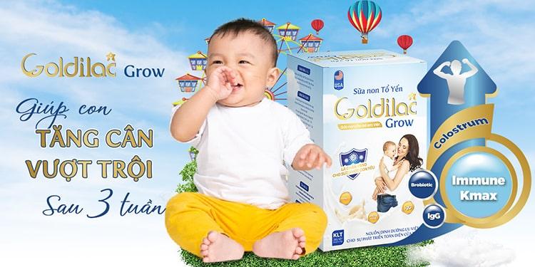 Độ tuổi dùng sữa non tổ yến Goldilac Grow