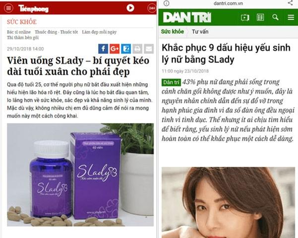 Báo chí đưa tin Slady