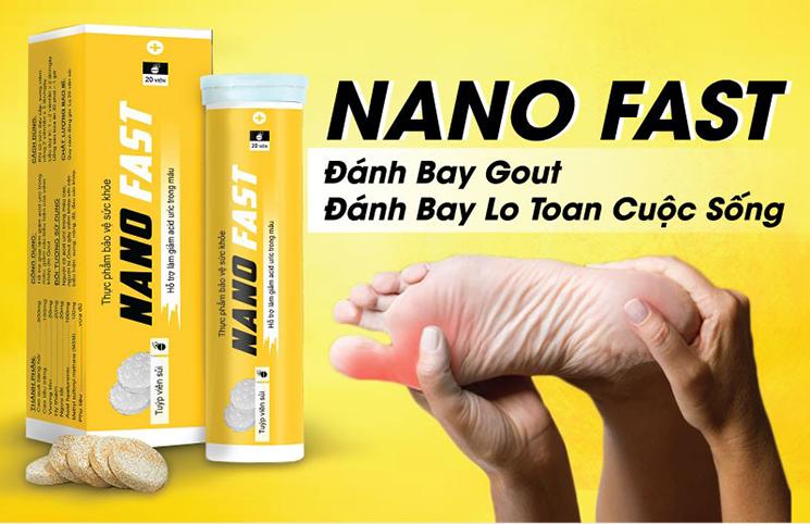 Viên sủi Gout Nano Fast